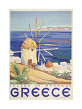 Mykonos Greece Giclee Print by Marcus Jules