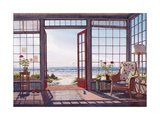 Porch with Kid Drawings Giclee Print by Lee Mothes