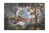 Puffing Billy 1 Giclee Print by John Bradley