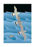 Gulls Giclee Print by Marie Sansone