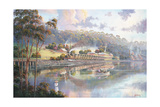 Early Days - Glenrock Lagoon Giclee Print by John Bradley