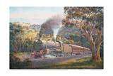 Western Express Giclee Print by John Bradley