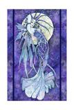 Blå måne Giclee-trykk av Linda Ravenscroft
