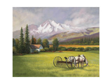 Harvest in the Rockies Giclee Print by John Zaccheo