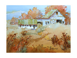 Fall Farm Giclee Print by Joyce Hicks
