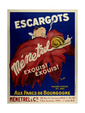 Escargots Giclee Print by Marcus Jules
