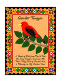Scarlet Tanager Quilt Giclee Print by Mark Frost