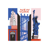 New York Print Giclee Print by Julie Goonan