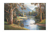Megalong Valley Campers Giclee Print by John Bradley