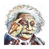 Albert Einstein Giclee Print by Marlene Watson