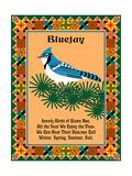 Blue Jay Quilt Reproduction procédé giclée par Mark Frost