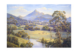 Mt. Warning Giclee Print by John Bradley