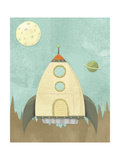 Kids Spaceship Giclee Print by Michael Murdock