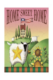 Sheep Home Sweet Home Giclee Print by Margaret Wilson