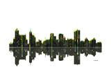 Memphis Tennessee Skyline BW 1 Giclee Print by Marlene Watson