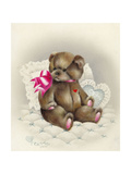 I Love You Giclee Print by Peggy Harris