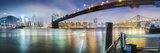 Brooklyn Bridge Pano 2-Color Photographic Print by Moises Levy