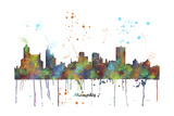 Memphis Tennessee Skyline MCLR 1 Giclee Print by Marlene Watson
