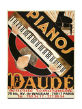 Daude Pianos Giclee Print by Marcus Jules