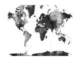 World Map BG 1 Giclee Print by Marlene Watson