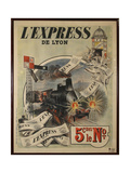 L Express Giclee Print by Marcus Jules