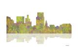 Boise Idaho Skyline 1 Giclee Print by Marlene Watson