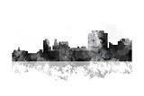 Trenton New Jersey Skyline BG 1 Giclee Print by Marlene Watson