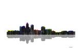 Des Moines Iowa Skyline BW 1 Giclee Print by Marlene Watson