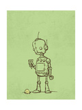 Robot Icecream Giclee Print by Michael Murdock