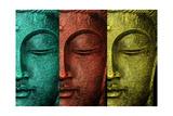 Buddha Face Giclee Print by Mark Ashkenazi