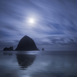 Moon over Canon Beach Photographic Print by Moises Levy