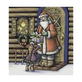 Apple Santa Giclee Print by Michele Meissner