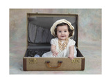 Girl in a Suitcase Giclee Print by Nora Hernandez
