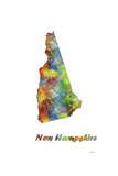 New Hampshire State Map 1 Giclee Print by Marlene Watson
