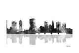 Columbus Ohio Skyline BG 1 Giclee Print by Marlene Watson