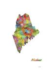 Maine State Map 1 Giclee Print by Marlene Watson