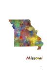 Missouri State Map 1 Giclee Print by Marlene Watson