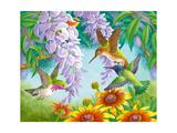 Hummingbirds Giclee Print by Olga Kovaleva