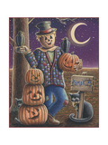 Apple Scarecrow Giclee Print by Michele Meissner