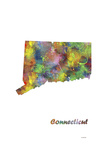 Connecticut State Map 1 Giclee Print by Marlene Watson
