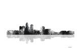 Des Moines Iowa Skyline BG 1 Giclee Print by Marlene Watson