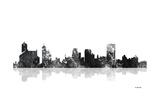 Memphis Tennessee Skyline BG 1 Giclee Print by Marlene Watson