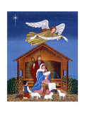 Primitive Nativity Giclee Print by Sheila Lee