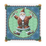 Santa and Snowflakes Giclee Print by Michele Meissner