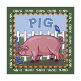 Apple Pig Giclee Print by Michele Meissner