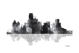 Dallas Texas Skyline BG 1 Giclee Print by Marlene Watson