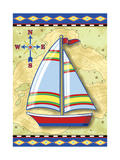 Nautical V Giclee Print by Michele Meissner