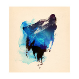 Alone as a Wolf Giclee Print by Robert Farkas