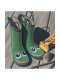 Apple Frog Boots Giclee Print by Michele Meissner