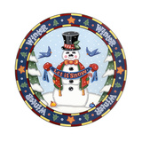 Apple Snowman Giclee Print by Michele Meissner